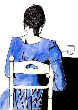 Retrato de espaldas